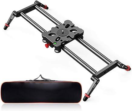 Camera Slider, FOSITAN 15.7 inch Carbon Fiber Dolly Rail...