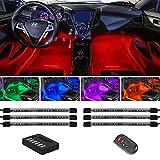 LEDGlow 6pc Flexible Million Color Multi-Color LED...