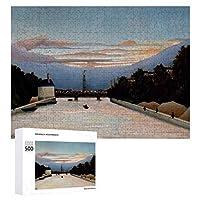 INOV ヴィンテージアンリルソーザエッフェルタワー ジグソーパズル 木製パズル 500ピース キッズ 学習 認知 玩具 大人 ブレインティー 知育 puzzle (38 x 52 cm)