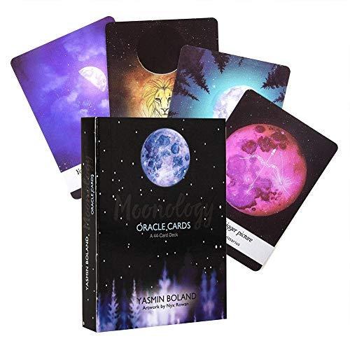 44 Moonology Oracle-kaarten laten je door de maanfases door je levenskaarten, rituale en dagboekenoefeningen leiden, zodat je je weer met je eigen universum kunt verbinden.