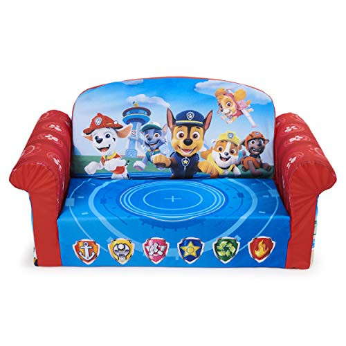 Marshmallow Furniture, Children's 2-in-1 Flip Open Foam Compressed Sofa, PAW Patrol