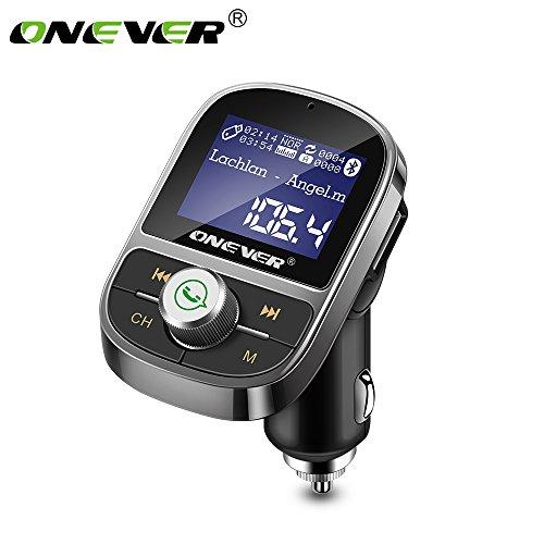 ONEVER HY29 Bluetooth Transmetteur FM Lecteur MP3 3.1A Chargeur USB Support EQ R¨¦glage Voltm¨¨tre TF Card U Disque AUX Out