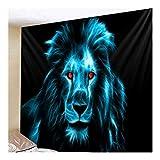 Versión Mejorada león de la Cebra Tapices colgados de la Pared Hojas de Animales Tribales Lobo Tigre Caballo Tapiz de decoración del hogar Beach Mat 8.13 (Color : C, Size : 150cmx130cm(59x51inch))