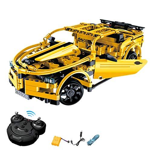 HSP Himoto 2.4GHz RC ferngesteuertes DIY Steckbausatz Konstruktion Auto Sportwagen Car aus Bausteinen zum Selber Bauen Basteln mit 2.4GHz Fernbedienung, Komplett-Set Inkl. Akku und Ladegerät