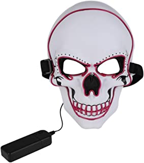 Halloween Costume Festival Parties Scary Purge Death Skull Mask EL Wire LED Light Up Masks Cosplay Decorations