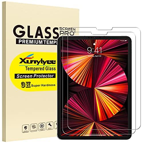 XunyLyee [2 Stück] Kompatibel mit iPad Air 4th generation Panzerglas, Gehärtetem Glas Displayschutzfolien für iPad Air 4 2020 und iPad Pro 11 2021/2020/2018