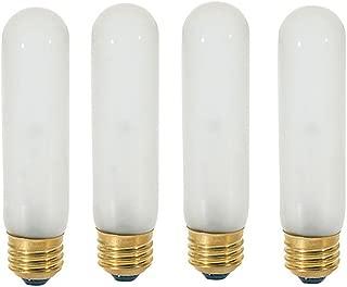 40T10/120V -Tubular - 120V - Medium (E26) Base - Incandescent Light Bulb (Frosted, 40 WATT-4 Pack)