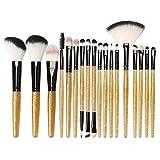 18pcs ensemble de pinceaux de maquillage brillant outils de maquillage kit de toilette paillettes ensemble