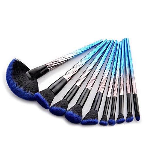ZYDP Maquillage Gradient Pinceau Pinceaux Yeux Professionnel synthétique Kit Premium for Blending Fard à paupières Correcteur Sourcils Eyeliner (Color : 10-Piece)