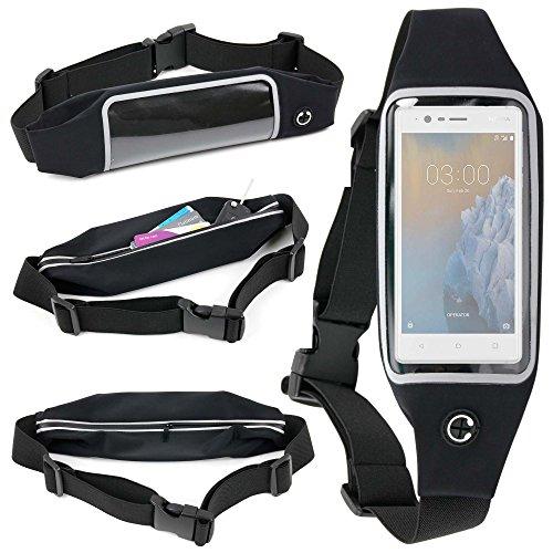 DURAGADGET Cinturón Deportivo Pecho | Cintura para Smartphone Smartphone Nokia 3 TA-1032 DS ES PT Y Pertenencias + Paño De Obsequio - ¡Es Impermeable Y Regulable! - Muy Ligero