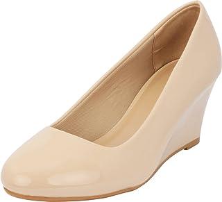 Cambridge Select Women's Classic Slip-On Ballet Mid Wedge Heel Pump