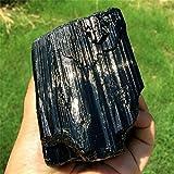 ABCABC 1 pz Natural Black Tourmaline Crystal Rough Stone Rock Mineral Specimen Stone Decorazione della casa (Color : 700g 720g, Size : 1PCS)