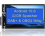 Tristan Auron BT2D7019A Android 10 Autoradio I 32 GB 7 Touchscreen Bildschirm I Bluetooth Freisprecheinrichtung MirrorLink I USB SD OBD DAB Plus 2 Din