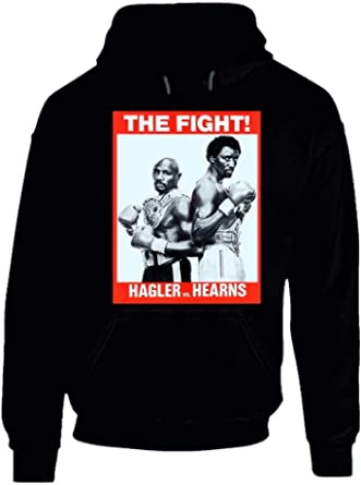 Marvin Hagler Vs Tommy Hearns Retro 80s Boxing Fight Hoodie.