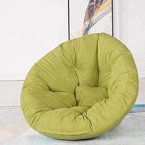 Luie stoel, comfortabele stoel Luie bank Zitzak Enkele fauteuil Balkon Klein appartement Slaapkamer Leuke opvouwbare Tatami kleine bank Groen