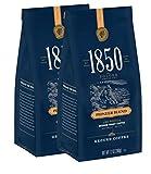 1850 Pioneer Blend Medium Roast Ground Coffee, 12oz Bag, 2-Pack