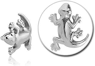 Surgical Steel Push Fit Attachment For Bioflex Internal Labret - Salamander