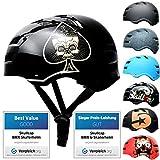SC Skateboard Skate Helmet & BMX Bike Helmet for Men & Women Skating Helmet Adults
