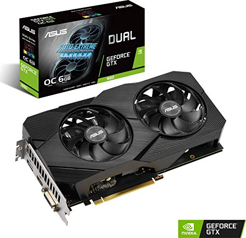 Asus Dual GeForce GTX 1660 6GB OC Edition GDDR5 EVO, Scheda Video Gaming con Dissipatore Biventola per Gaming FullHD