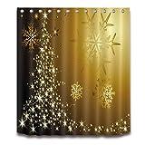 qhtqtt Duschvorhang Winter Farbverlauf Schneeflocken Weihnachten Bad Wasserdichtes Polyestergewebe Für Badewanne Wohnkultur 180X200 cm A