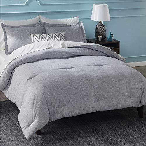 Bedsure King Comforter Sets Bed Comforter King Set Grey Comforter King Set Cationic Dyeing King product image