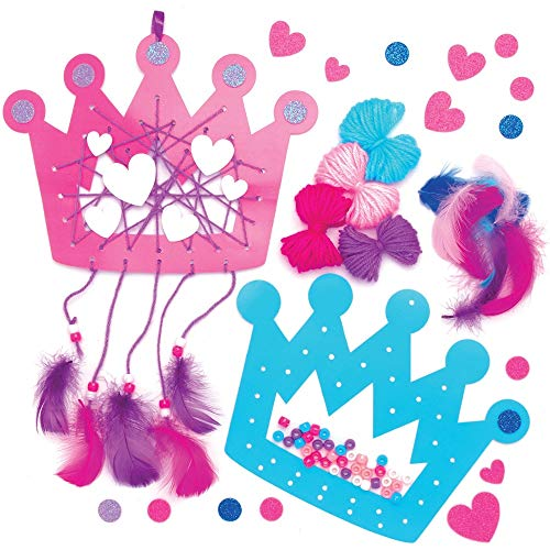 Baker Ross Kit Atrapasueños Princesa (paquete de 4) Arte y manualidades para niños