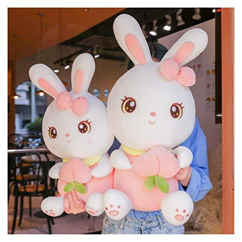 DINGX Muñeca de peluche, lindo conejo blanco jugando con juguetes de peluche, almohada súper suave, decoración de Navidad, regalo de cumpleaños 45 cm (tamaño: 25 cm) chuangze (tamaño: 35 cm)