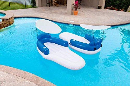 Aufblasbarer Doppel Sessel 198x 104cm Meer Schwimmbad schwimmen Geschenk bes358