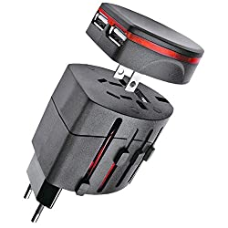 Universal Travel power AC Adapter Plug with USB Charger AU/US/UK/ EU - 04