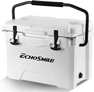 EchoSmile 25/30/35/40/75 Quart Rotomolded Cooler, 5 Days Protale Ice Cooler, Ice Chest Suit for BBQ, Camping, Pincnic, and...