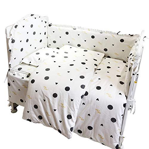 Pare-chocs pour lit de bébé lit en coton amovible et lavable respirant et entourant l'ensemble de literie pour bébé ensemble de 4 pièces anti-collision 110 * 60 A