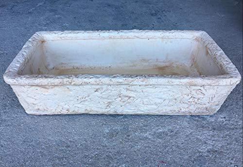 ARTISTICA GRANILLO Évier en béton, lavabo, fontaine, dimensions : 80 x 40 x 20 cm - Marron - Baignoire unique