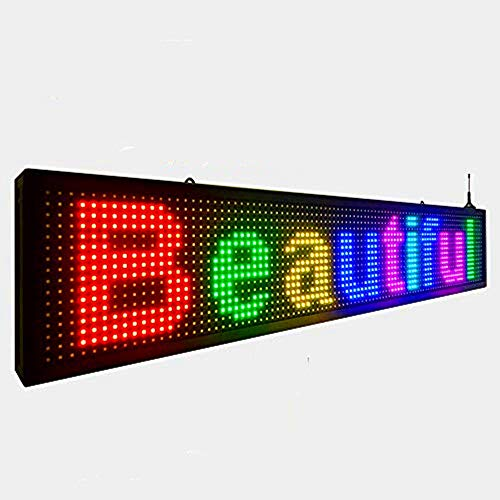 Outdoor full color P10 wifi scrolling texts messages board programmable led sign