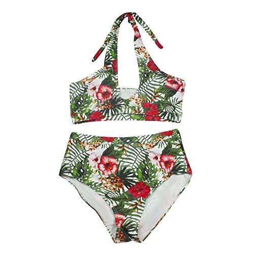 HOSD Neuer Bikini große Dicke Frau Badeanzug weiblichen Sinn drucken rückenfrei hohe Taille konservative Trennung