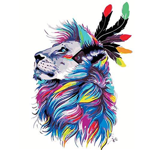 DIY obraz olejny kolorowe fajne zwierzę nieoprawione nowoczesna sztuka ścienna obraz wystrój domu według numerów zestawy farba akrylowa na płótnie do dzieła sztuki