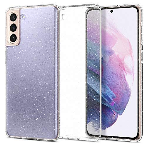 Spigen Cover Liquid Crystal Glitter Compatibile con Samsung Galaxy S21 Plus 5G - Crystal Quartz