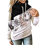 Plus Size Langarm Patchwork High-Neck Loose Hoodie Mantel Sweatshirts Kapuzenpullover Mit Mode Motiv