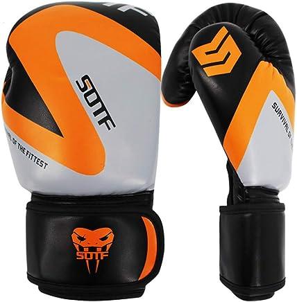 Muay Thai Boxing Training Konfrontation, haltbarer PU-Leder-Knöchelschutz, Boxhandschuhe für Erwachsene 6 Unzen, 8 Unzen, 10 Unzen, 12 Unzen B07PC3B7HR     | Spielzeugwelt, fröhlicher Ozean