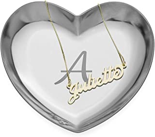 Personalized Custom Made Heart Tray-Jewelry Dish Ring Holder Organizer- Home Decor Gift