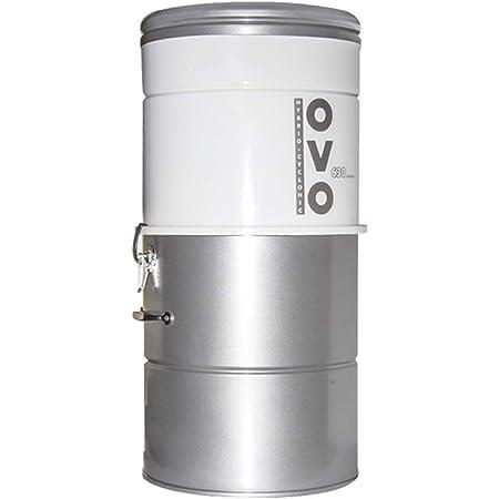 OVO Aspirateur Centralisé 630 Airwatts 25 Litres - Aspiration Centralisée Jusqu'a 250 M2 - Neuf, Existant, Rénovation - Garantie 10 Ans
