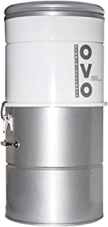 Best OVO, Large and Powerful Central Vacuum System, 630 AW, Hybrid Filtration (With or Without disposable bags), Covers up to 7500 sq.ft, 6,6 Gal / 25L Bottom load Rolled Steel Canister Review
