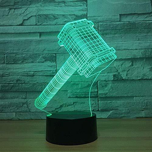 Boutiquespace Lámpara 3D de ilusión 3D, lámpara de visión 3D, 7 colores, interruptor táctil degradado USB, lámpara de mesa decorativa para niños (patines)