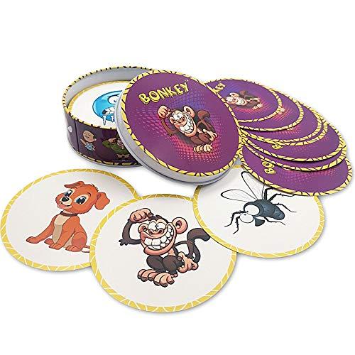 Bonkey Kartenspiel, familienfreundlich, Partyspiele für Erwachsene, Jugendliche und Kinder ab 5 Jahren, 2–10 Jahren, tolles Geschenk, lustiges Gedächtnis- und Reaktionsspiel, Strumpffüller Geschenk