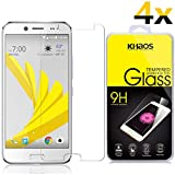 [4-Pack] KHAOS for HTC Bolt/HTC 10 EVO Screen Protector HD Clear Ballistic Glass Scratch Proof Easy Installation Case Friendly Tempered Glass Film with