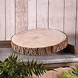 Christmas Rustic Wood Slice Plate Wood Log Slab Cake Stand 3 Sizes Wedding Decor (Medium (30cm - 37cm))
