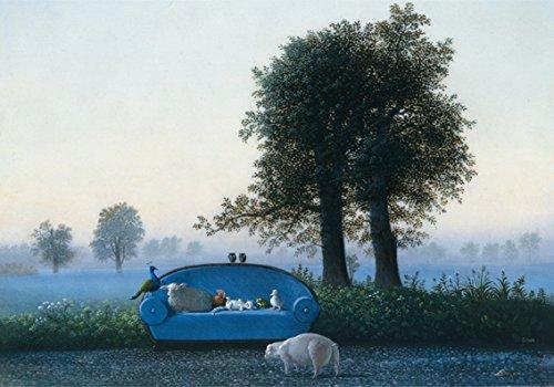 Postkarte A6 • 15079 ''Das blaue Sofa'' von Inkognito • Künstler: Michael Sowa • Fantastik • Ostern