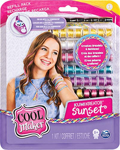 Cool Maker Set Moda Kumi per Creare fino a 12 Braccialetti con KumiKreator, per Bambine dagli 8 Anni in Su, Modelli assortiti