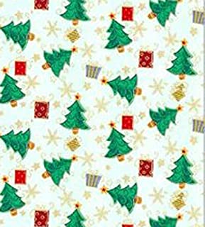 Dollhouse Miniature Wallpaper Half Scale Christmas Trees by Itsy Bitsy