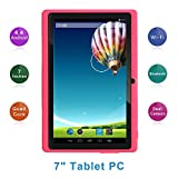 Haehne 7' Tablet PC, Google Android 4.4 Quad Core, 512MB RAM 8GB ROM, Cámaras Duales, Pantalla Táctil Capacitiva, WiFi, Bluetooth, Rosado