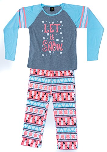 Just Love Two Piece Girls Pajamas Set,Let It Snow,14-16
